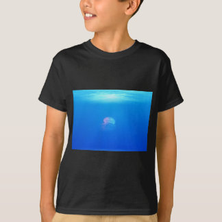 Beautiful Iridescent Jellyfish in a Sea of Blue T Shirt