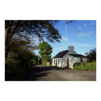 Beautiful Irish Cottage Poster