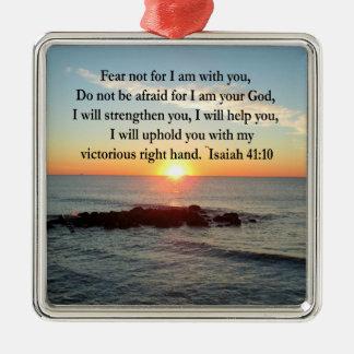 BEAUTIFUL ISAIAH 41:10 SUNRISE CHRISTMAS ORNAMENT