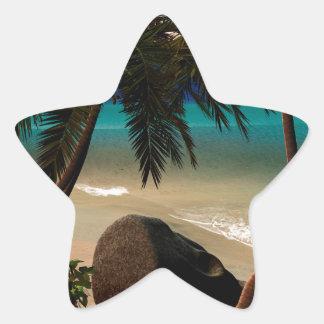 Beautiful island star sticker