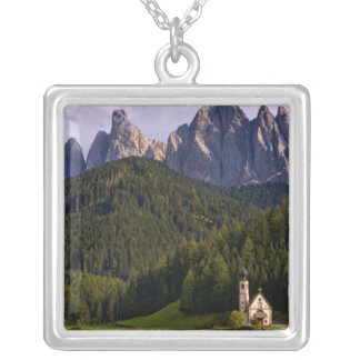 Beautiful isolated lonely church called Rainui 2 Silver Plated Necklace