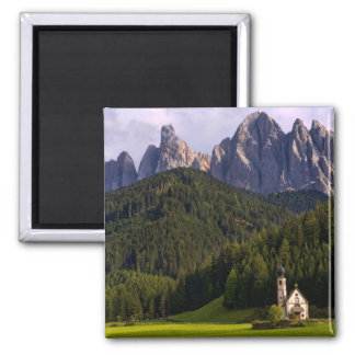 Beautiful isolated lonely church called Rainui 2 Square Magnet