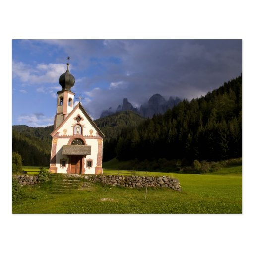 Beautiful isolated lonely church called Rainui Postcards