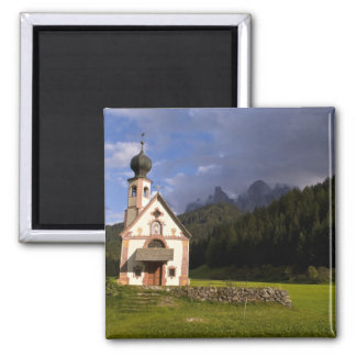 Beautiful isolated lonely church called Rainui Square Magnet