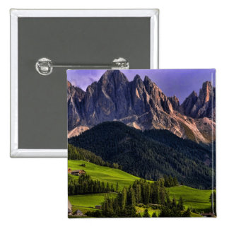 Beautiful isolated lonely church St Maddalena 15 Cm Square Badge