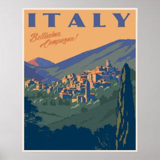 Beautiful Italian Countryside Poster