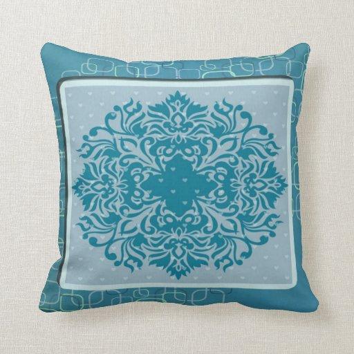 Beautiful jade pillow with exotic design throw pillows