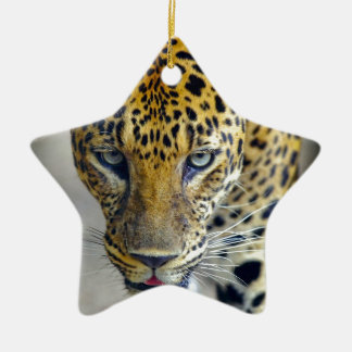 Beautiful jaguar christmas ornament