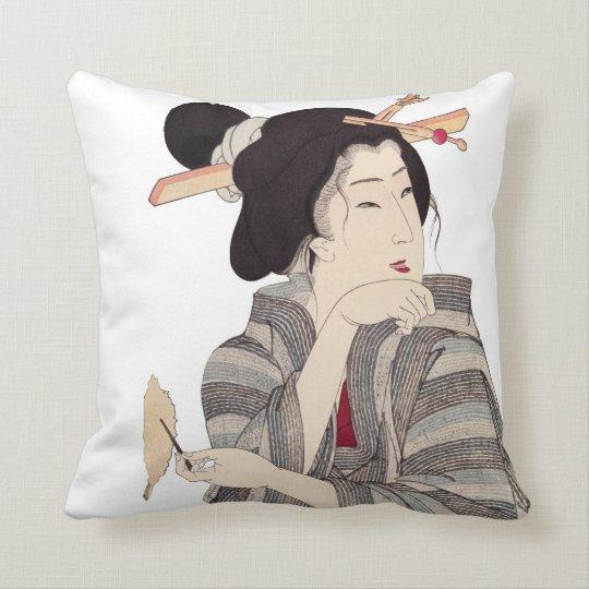 Beautiful Japanese Geisha Design Throw Pillows