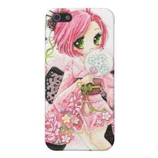 Beautiful Japanese girl in Kimono iPhone 5/5S Case