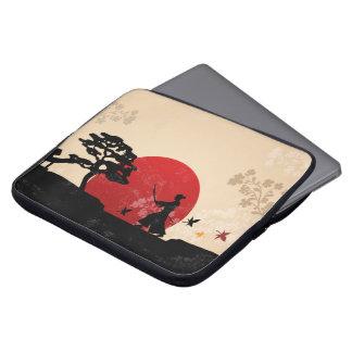 Beautiful Japanese Samurai Sunset Laptop Sleeve