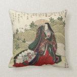 Beautiful Japanese vintage artwork pillow Throw Cushion