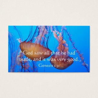 Beautiful Jellyfish Bible Verse Wallet Card