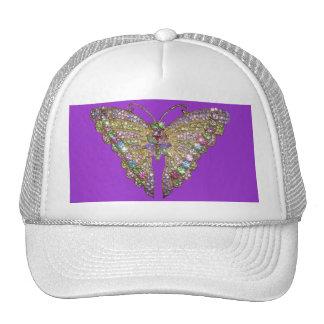 Beautiful Jeweled Butterfly Cap