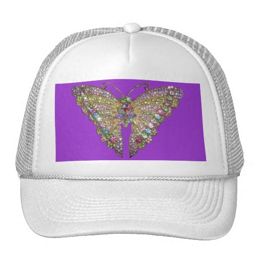 Beautiful Jeweled Butterfly Hat