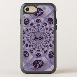 Beautiful kaleidoscope of purple butterflies OtterBox symmetry iPhone 8/7 case