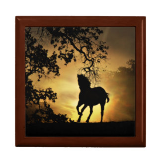 Beautiful Keepsake Horse Wooden Box and Tile