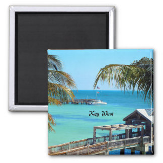 Beautiful Key West Square Magnet