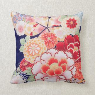 Beautiful Kimono Fine Floral Vintage Japanese Cushion