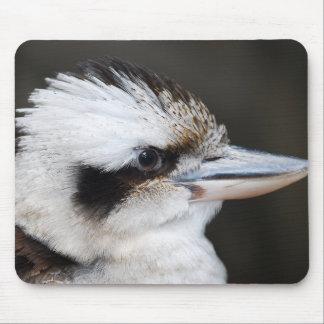 Beautiful kookaburra bird side portrait mouse pad