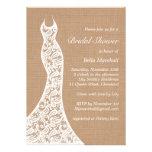 Beautiful Lace & Burlap Bridal Shower Invitation