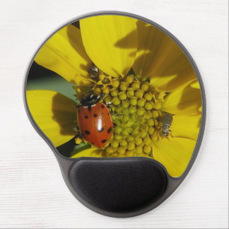 Beautiful Lady Bug nestled in a sunflower Gel Mouse Mat