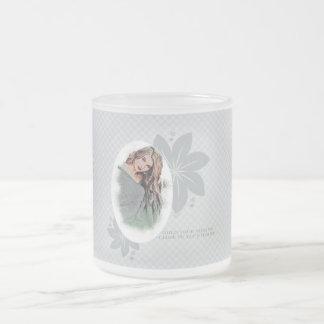 Beautiful Lady Frosted Glass Coffee Mug