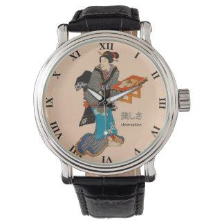 Beautiful Lady Japanese Print 1 Utagawa Kunisada Wristwatch