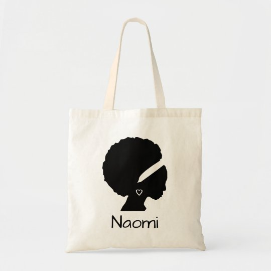 Beautiful lady with Afro Tote Bag
