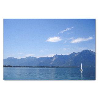 Beautiful lake Geneva Tissue Paper