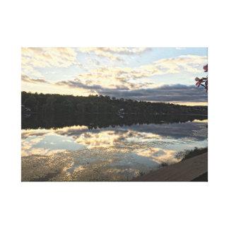 Beautiful Lake in Danbury Connecticut Canvas Print
