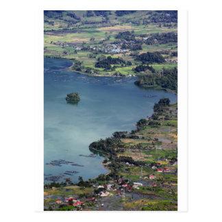 Beautiful Lake Maninjau caldera lake West Sumatra Postcard
