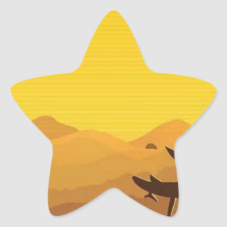 Beautiful landscape background star sticker
