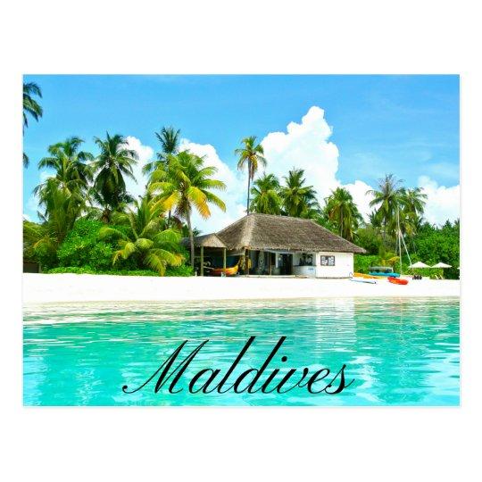 Beautiful Landscape Of Maldives Postcard