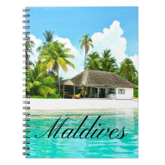 Beautiful Landscape Of Maldives Spiral Notebook