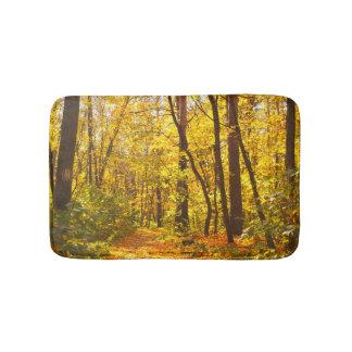 Beautiful Landscape - Road In Autumn Forest Bath Mats