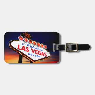 Beautiful Las Vegas Sunset with Travel Custom Info Luggage Tag
