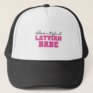 Beautiful Latvian Babe Trucker Hat