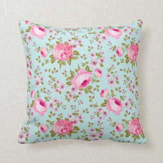 Beautiful Lavender And Pink Floral Pattern Cushion