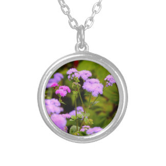 Beautiful Lavender and Pink Wildflower Necklace