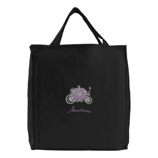 Beautiful Lavender And Silver Pumpkin Carriage Embroidered Bags