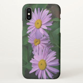 Beautiful Lavender Colored Painted Daisies iPhone X Case