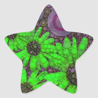Beautiful Lavender Florescent Sunflowers Star Sticker