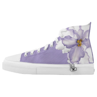 Beautiful Lavender Orchid High Tops