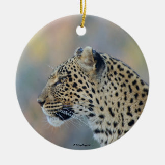 Beautiful Leopard Profile Christmas Ornament
