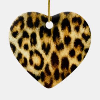 Beautiful Leopard skin Christmas Ornament