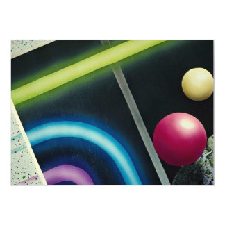 "Beautiful Light curve and colorfull balls 5"" X 7"" Invitation Card"