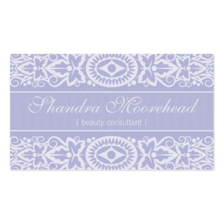 Beautiful Lilac Beauty Consultant Business Card