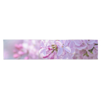 Beautiful lilac flowers short table runner
