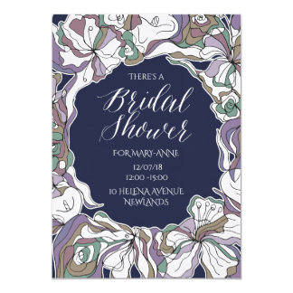 Beautiful Lillies Frame Bridal Shower Invitation